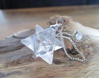 Pendulum Crystal Merkaba 7 Chakras - 3 cm