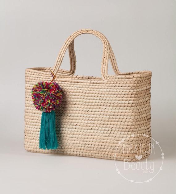 Straw Bag Palm Leaf Market Mexican Purse