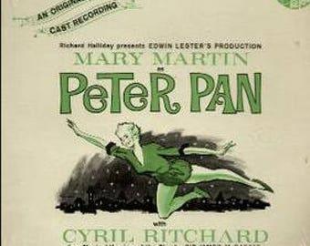 Peter Pan, 1954 Musical/Original Broadway Cast, vinyl/record LP, very good condition
