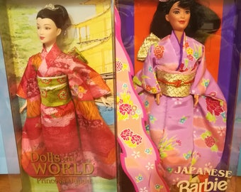 Two princess of Japan Barbies