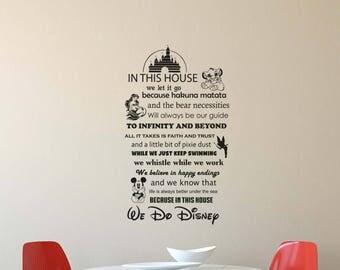 Disney Wall Decal Etsy - Custom vinyl wall decals disney