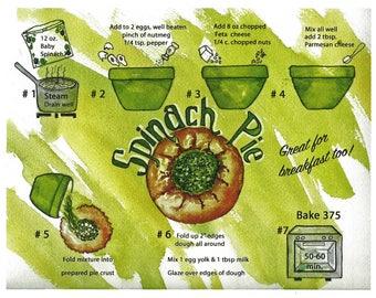 Spinach Pie- illustrated recipe