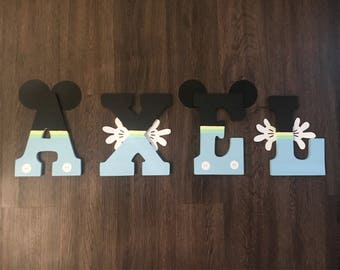 Baby Mickey/Minnie Mouse Letters