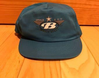Vintage Bugle Boy snapback Aqua blue Mint condition 90's hip hop