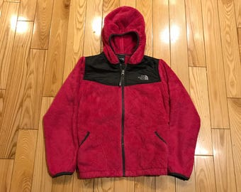 Girls youth 14-16 Northface jacket furry pink Mint condition brand new hooded sweatshirt Warm womans small winter coat fur coat columbia