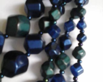 Vintage Beaded 5 Strand Necklace