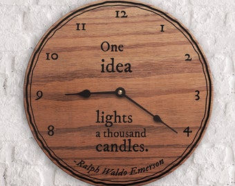 Popular Inspirational Quotes - Popular Motivational Quotes - One Idea Lights a Thousand Candles Quote - Ralph Waldo Emerson Quote