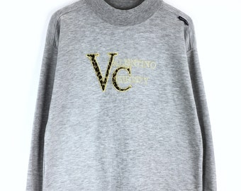 Rare!!! Vintage Valentino Christy Embroidery Sweatshirt Valentino Christy Spellout Pullover Jumper Sweater
