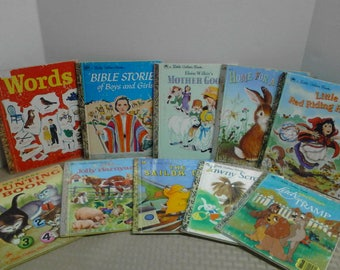 1940-1990's Little Golden Books - 10 books