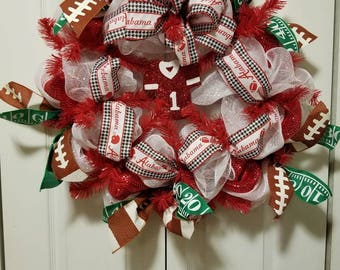 Alabama Crimson Tide Jersey Wreath