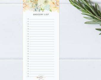 Delicate Floral Grocery List
