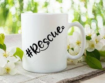 Rescue vinyl coffee mug/car vinyl