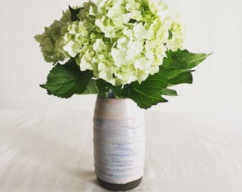 Small flower vase /blue&gray/6 inches
