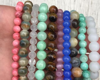 Beaded crystal bracelets