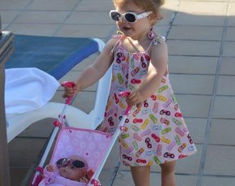 Girl's summer dress - Toddler summer dress - girl's sundress - Toddler sundress - pillowcase summer dress - cool cotton summer dress