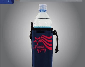 Fourtht of July Water Bottle Cooler (WB-FourthofJuly01)