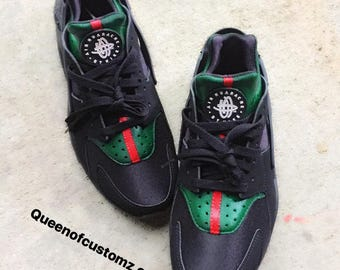 Gucci Inspired Nike huaraches custom