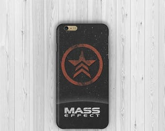 ON SALE Mass Effect Renegade Phone Case - iPhone 7, iPhone 6s, 6, Plus, 5, Samsung Galaxy S7, S6, S5 cover