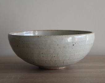 Ceramic bowl, white ceramic bowl, handmade bowl, white stoneware ceramic Bowl