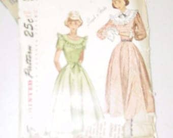 Vintage Simplicity Dress Party Full Skirt Size 14 Pattern 2524 13317