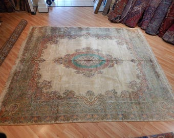 Antique Kerman Wool Persian Rug