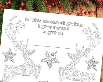 Christmas Self Care, Holiday Indoor Activity, Christmas Coloring, Christmas Printable Quote
