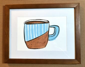 Blue Striped Mug Painting