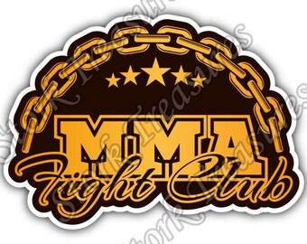 Mixed Martial Arts MMA Cage Fight Fighting Sport Car Bumper Vinyl Sticker Decal