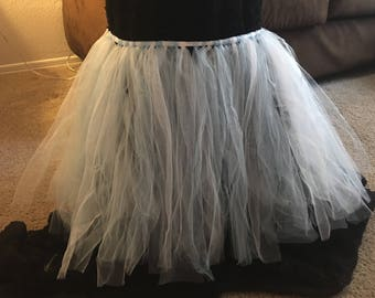 White and light blue tutu