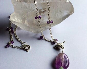 Amethyst chain pendant