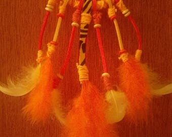 Yellow and orange dream catcher