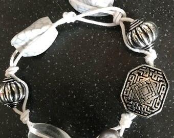 Beaded knotted bracelet