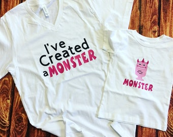 I've created a Monster Mom Mommy adult shirt tee