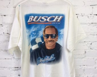 Vintage Busch Dale Earnhardt Sr. T-shirt / Size XL / 90s 1990s / Rare / Nascar Winston Cup / Racing / The Intimidator