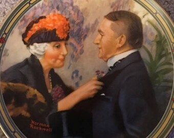 1987 Norman Rockwell Love's Reward collector plate