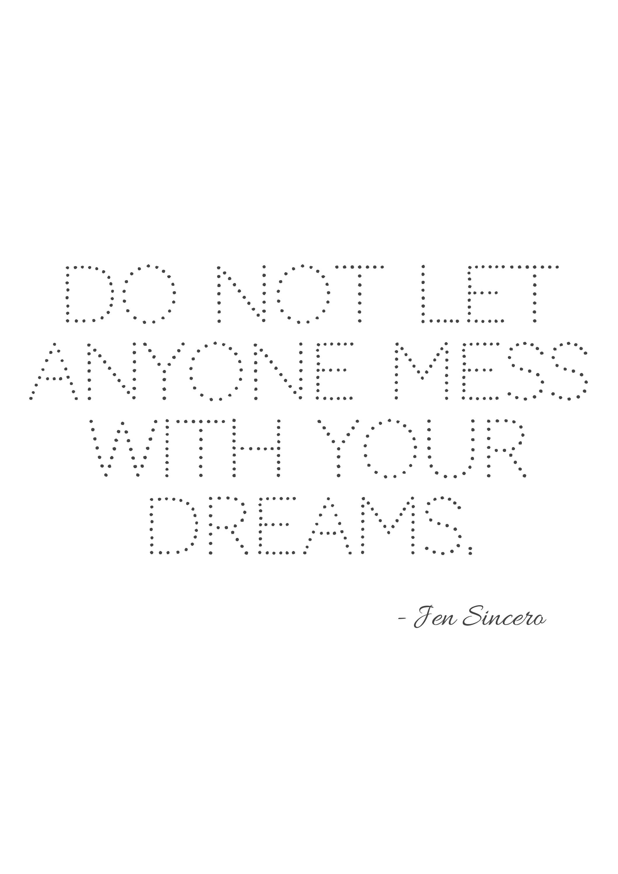 Jen Sincero Quotes Print Jen Sincero Printable Inspirational Quote  Don't Let