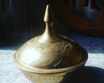 Brass Bowl with Lid - Made in India