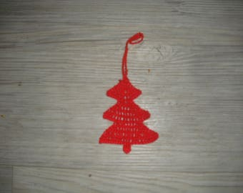 Small Christmas tree red, Christmas decoration, wall hanging, on the tree