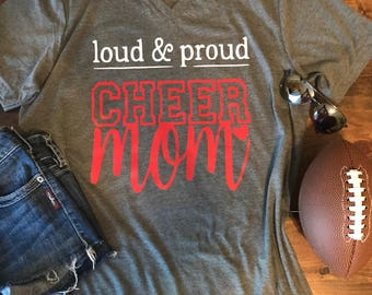 Loud and Proud Cheer Mom Shirt • Cheer mom shirt • Cheerleading shirt • Bella Canvas