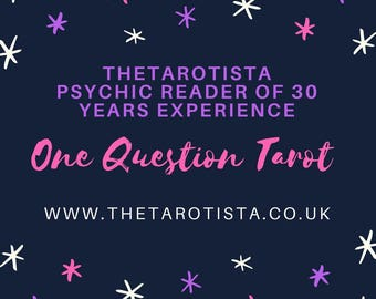 One Question Psychic Tarot Reading Same Day with pictures by Psychic Reader of 30 years experience