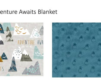 Adventure Awaits Minky Toddler Blanket
