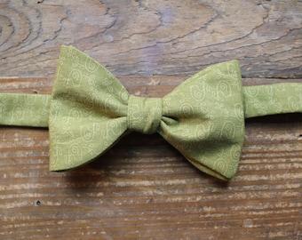 Cotton Bow Tie - Split Pea Soup