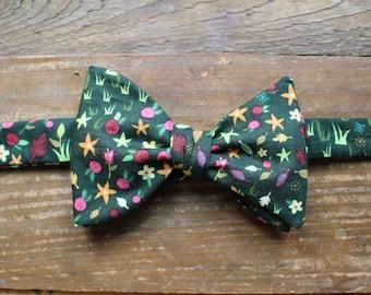Cotton Bow Tie - Spring Garden
