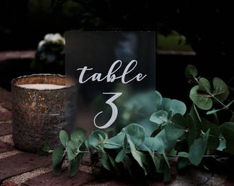 Table Numbers   Wedding Table Numbers   Wedding Signs   Clear Table Numbers