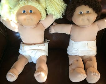 1984 and 1995 cabbage patch dolls