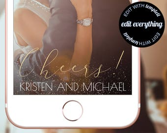 Cheers Wedding Snapchat Geofilter - Cheers Birthday Snapchat Geofilter - Cheers Birthday Filter - Cheers Wedding Filter - Custom Geofilter