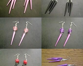 choose set earrings, cones