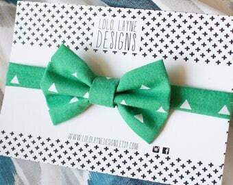 Green Triangle Bowtie