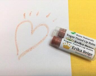 Vegan Tinted Lip Balm  Erika Beige