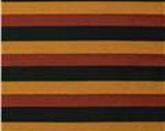 END OF BOLT - 1 Yard - Stretch Jersey Knit Spendid Stripe Gold/Rust - Sewing - Jersey Knit Fabrics